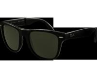 Ray-Ban Wayfarer Classic Pliables Matte Black Crystal Green