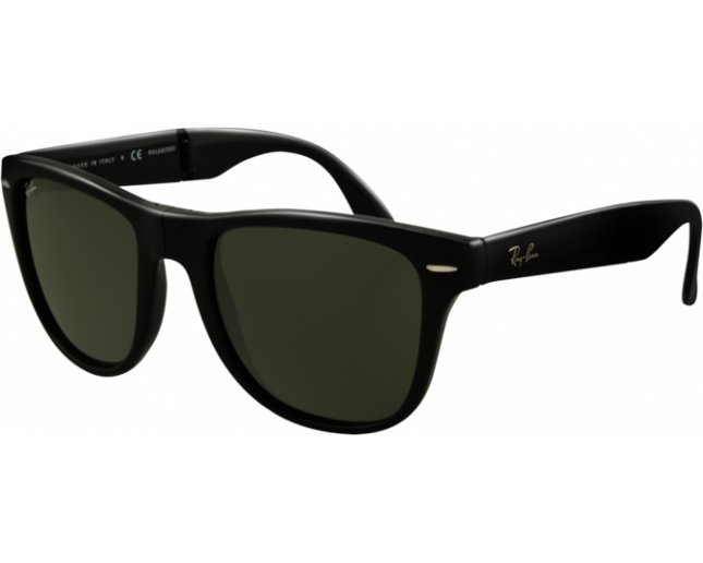 8ddac9963 Ray-Ban Wayfarer Pliante Matte Black Crystal Green - RB4105 601S -  Sunglasses - IceOptic