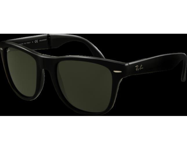 0461c74e6b8 Ray-Ban Wayfarer Pliantes Black Crystal Green - RB4105 601 - Sunglasses -  IceOptic