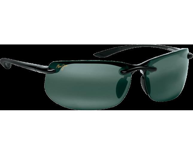 Maui Jim lunette de soleil Banyans Noir Brillant Gris Neutre Polarisée