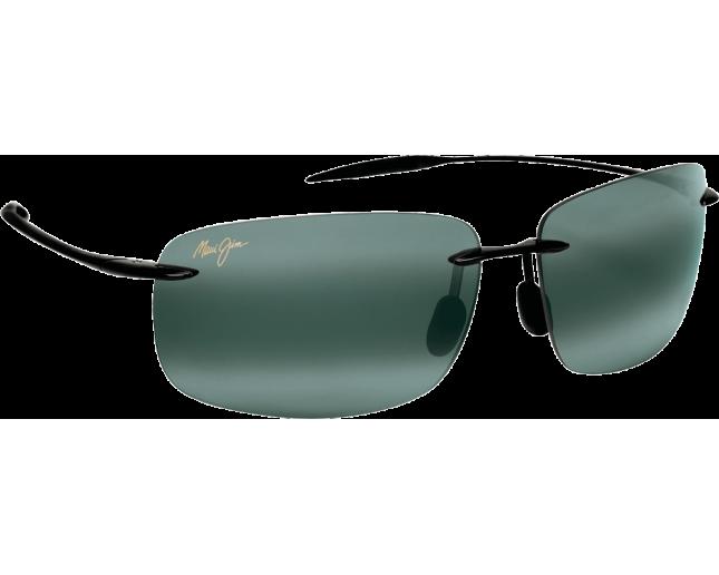 Maui Jim lunette de soleil Breakwall Noir Brillant Gris Neutre Polarisée