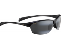 Maui Jim lunette de soleil Hot Sands Noir Brillant Gris Neutre Polarisée