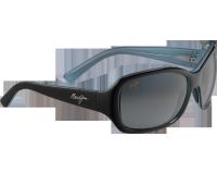 Maui Jim Pearl City Noir Brillant Intérieur Bleu Gris Neutre