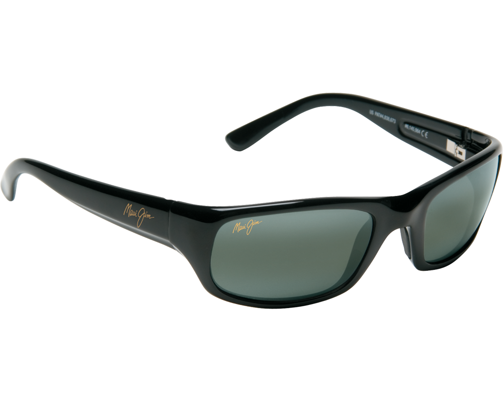 maui jim stingray noir brillant gris neutre 103 02 lunettes de soleil iceoptic. Black Bedroom Furniture Sets. Home Design Ideas
