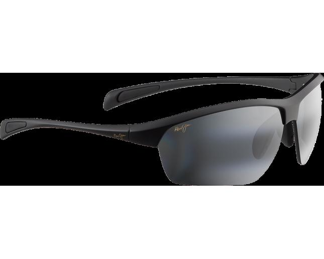 Maui Jim lunette de soleil Stone Crushers Noir Mat Gris Neutre Polarisée