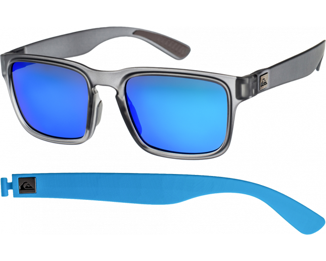 b29d031554482 Quiksilver Stanford Matte Transparent Grey Multilayer Blue -  EQYEY00034-KVK0 - Sunglasses - IceOptic