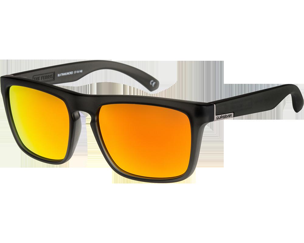 quiksilver the ferris matte transparent grey multilayer orange qs1127 823 lunettes de soleil. Black Bedroom Furniture Sets. Home Design Ideas