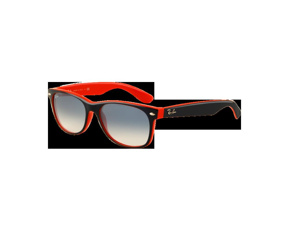 d44615179b Ray-Ban New Wayfarer Top Blue Orange Crystal Gradient Light Blue - RB2132  789/3F - Sunglasses - IceOptic