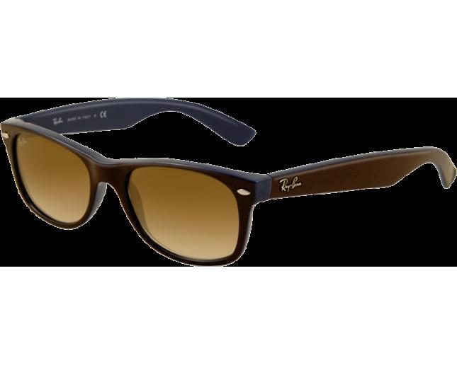 ray ban rb2132 wayfarer sunglasses blue rubber frame