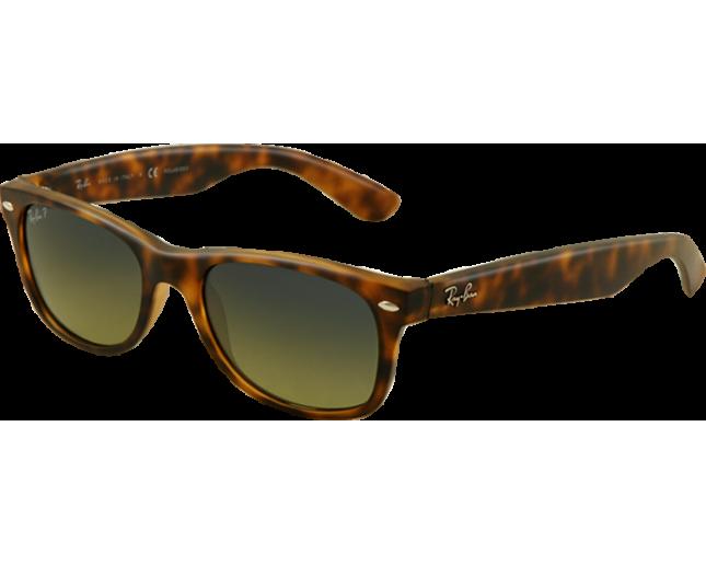 681909726143c Ray-Ban New Wayfarer Matte Havana Blue Green Polar - RB2132 894 76 -  Sunglasses - IceOptic