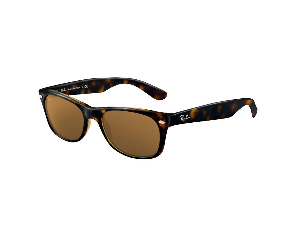 cc4131845d Ray-Ban New Wayfarer Tortoise Crystal Brown Polarized - RB2132 902 57 -  Sunglasses - IceOptic