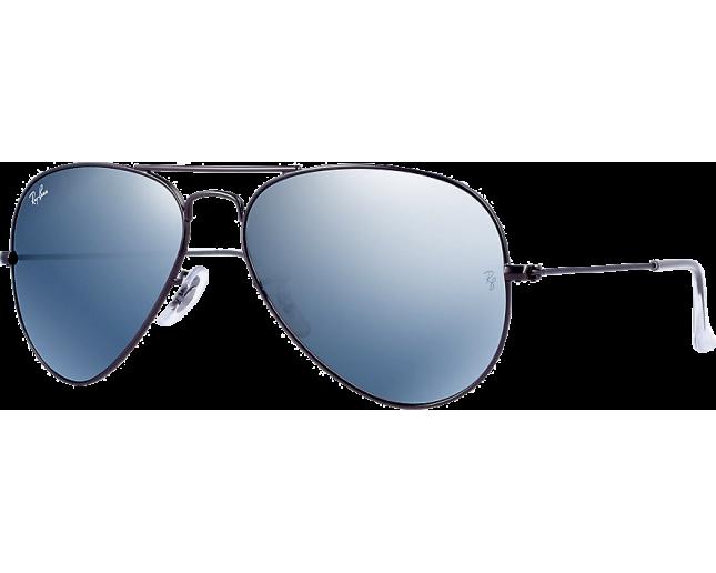 9be664155a2 Ray-Ban Aviator Flash Lens RB3025 Matte Gunmetal Green Mirror Silver -  RB3025 029 30 - Sunglasses - IceOptic