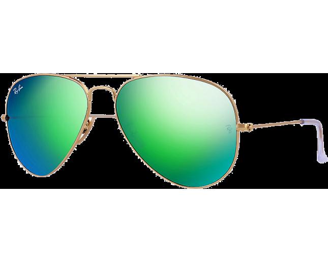 1d8802e0935 Ray-Ban Aviator Flash Lens RB3025 Matte Gold Green Mirror Polar - RB3025  112 P9 58 - Sunglasses - IceOptic