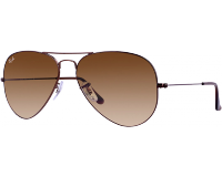 Ray-Ban Aviator Brown Crystal Brown Gradient