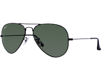 Ray-Ban Aviator Black Crystal Green Polarized