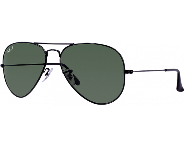 7b3f94c0e3 Ray-Ban Aviator Black Crystal Green Polarized - RB3025 002 58 - Sunglasses  - IceOptic