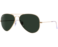 Ray-Ban Aviator Large Gold Crystal Green Polarized