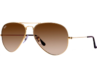 Ray-Ban Aviator Large Gold Polarized Brown Gradient