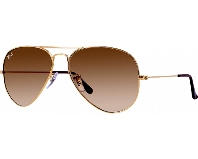 Ray-Ban Aviator Gold Polarized Brown Gradient - RB3025 001 M2 ICE ... cd1a180c33