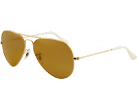 Ray-Ban Aviator Gold Crystal Brown Mirror Silver Gradient