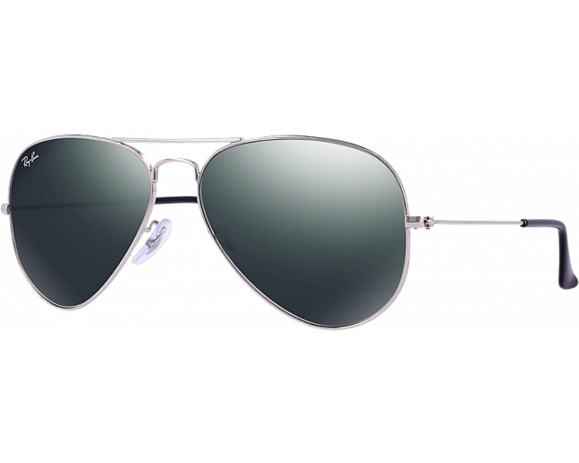 Ray-Ban Aviator Silver Crystal Grey Mirror - RB3025 W3277 - Sunglasses -  IceOptic 2bc811a577d3