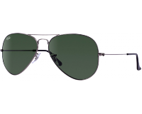 Ray-Ban Aviator Gunmetal Grey Green