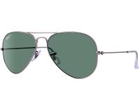 Ray-Ban Aviator Classic Matte Silver Polar Green