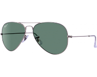 Ray-Ban Aviator Matte Silver Polar Green