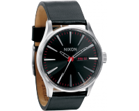 Nixon The Sentry Leather Black