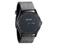 Nixon The Sentry Leather All Black/Pebble