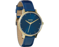 Nixon The Kensington Leather Blue/Light Gold
