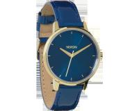 Nixon The Kensington Leather Blue/Light Gold