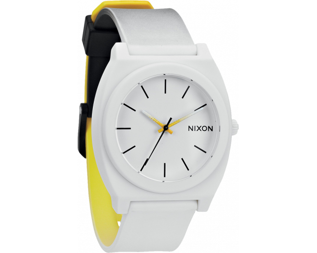 Nixon The Time Teller P Black/White/Yellow Fade