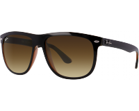 Ray-Ban Hightstreet Top Black On Brown Brown Gradient Dark Brown