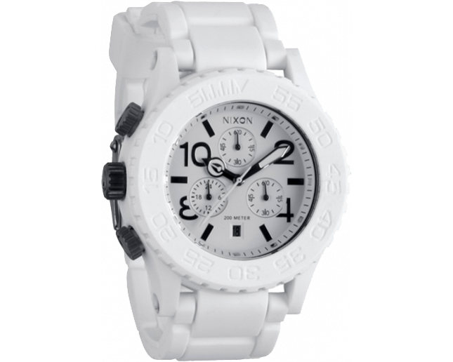 Nixon The Rubber 42-20 Chrono White