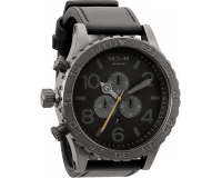 Nixon The 51-30 Chrono Leather All Gun/Black