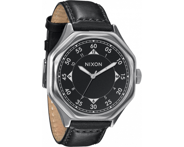 Nixon The Falcon Leather Black