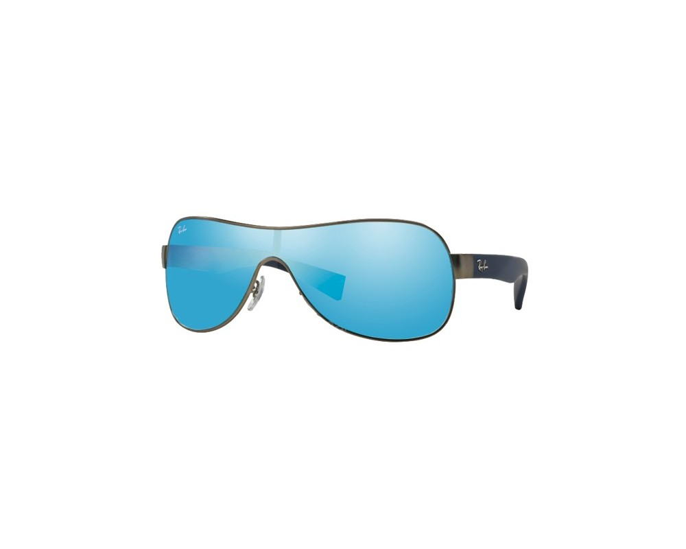 26bcb07a44 Ray-Ban RB3471 Matte Gunmetal Light Green Mirror Blue - RB3471 029 55 ICE -  Sunglasses - IceOptic