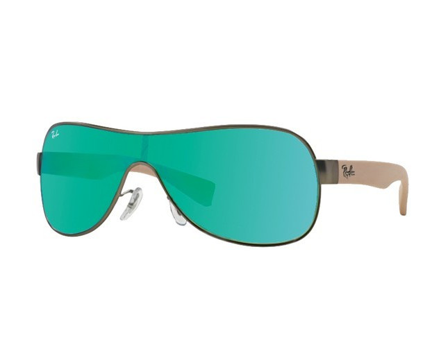5219d444838 Ray-Ban RB3471 Matte Gunmetal Green Mirror Green - RB3471 029 3R ICE -  Sunglasses - IceOptic