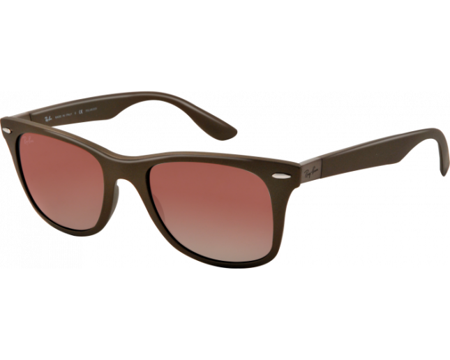 250af8e485 Ray-Ban Liteforce Wayfarer Tech Brown Plastic Brown Gradient - RB4195  6033 13 - Sunglasses - IceOptic