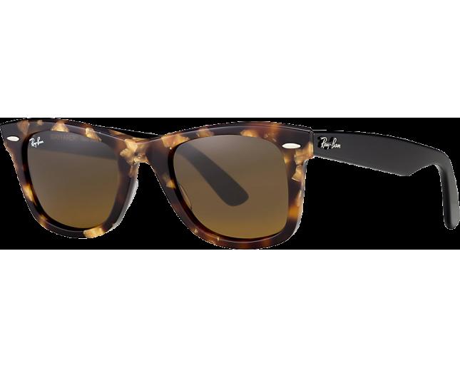 0f29d2282bb85 Ray-Ban Original Wayfarer Fleck Spotted Brown Havana Brown - RB2140 1160 -  Sunglasses - IceOptic