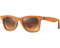 Ray-Ban Original Wayfarer Denim Jeans Orange Orange Gradient Brown