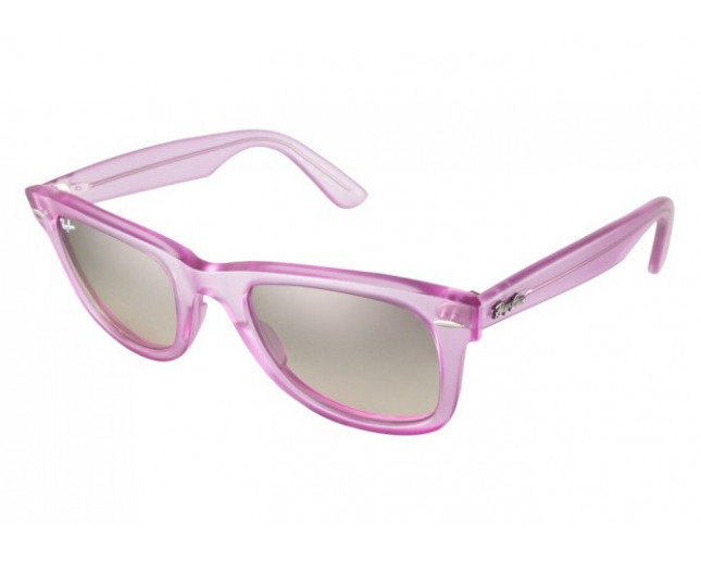 51a1d566514 Ray-Ban Wayfarer Ice Pop Demi Gloss Violet Grey Gradient - RB2140 6056 32 -  Sunglasses - IceOptic