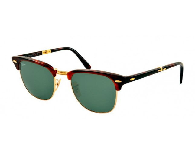 3fe4a374284 Ray-Ban Clubmaster Pliantes Red Havana Crystal Green - RB2176 990 -  Sunglasses - IceOptic