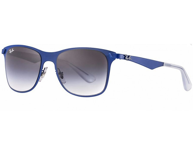 98f913c263 Ray-Ban Wayfarer Flat Metal Matte Blue Gradient Grey - RB3521 161 8G ICE -  Sunglasses - IceOptic