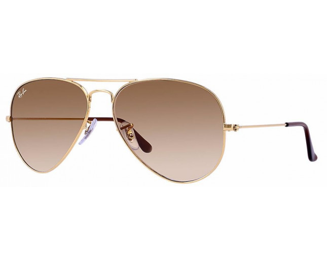 Ray-Ban Aviator Gold Crystal Brown Gradient - RB3025 001 51 - Sunglasses -  IceOptic 5569fc8256
