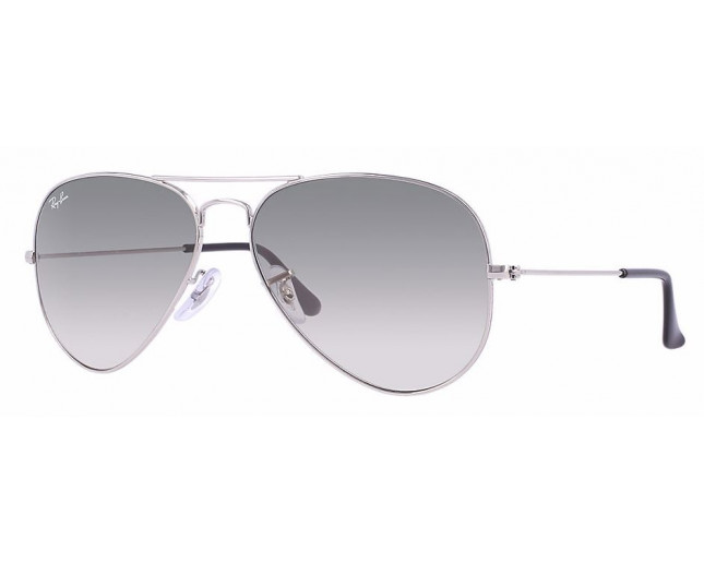 Ray-Ban Aviator Classic Silver Crystal Grey Gradient