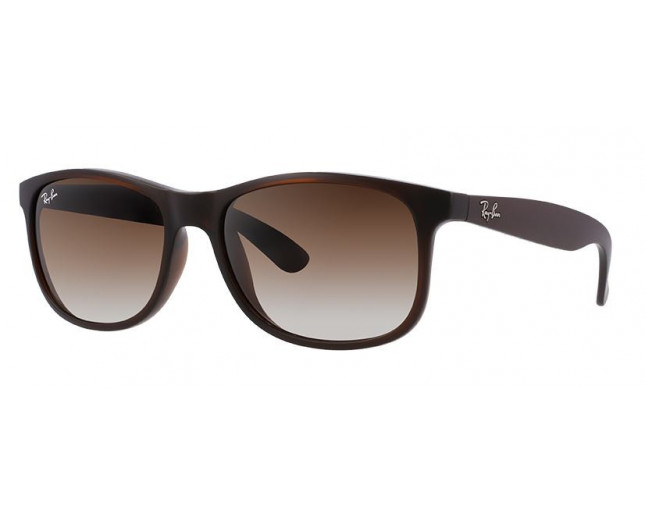35ef79cc04 Ray-Ban Andy Matte Brown Brown Gradient - RB4202 6073 13 - Sunglasses -  IceOptic