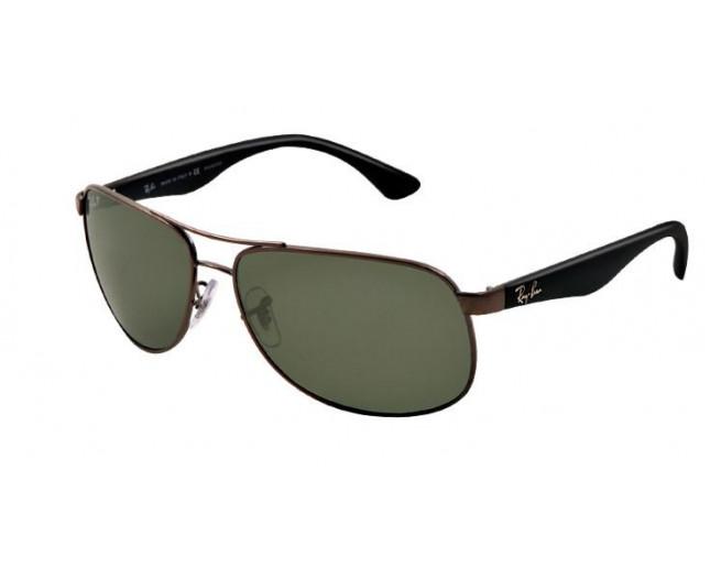 2c41dad459 Ray-Ban Gunmetal Green Polarized - RB3502 004 58 - Sunglasses - IceOptic