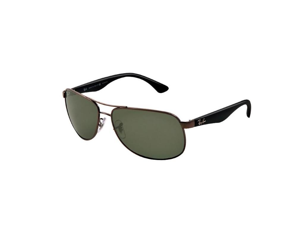 76fe6142927 Ray-Ban Gunmetal Green Polarized - RB3502 004 58 - Sunglasses - IceOptic